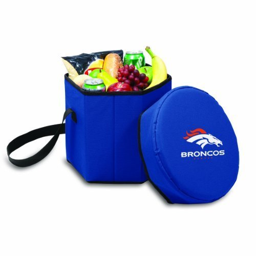 Picnic Time Nfl Denver Broncos Bongo Insulated Collapsible Cooler Navy