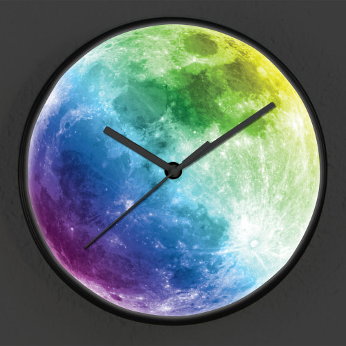 Glow in Dark Colourful Moon Children Clock