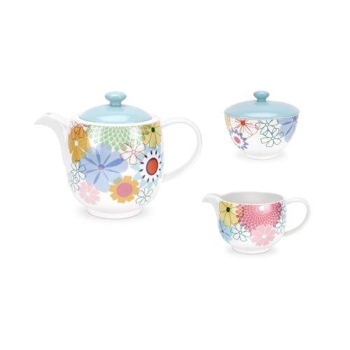 Portmeirion Crazy Daisy 3 Piece Tea Set