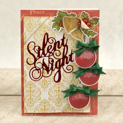 "Couture Creations Naughty Or Nice Hotfoil Stamp-Silent Night Sentiment 2.7""X2.7"""