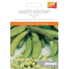 Johnsons World Kitchen Vegetable - Pictorial Pack - Soya Bean Elena - 50 Seeds