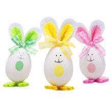Three Plastic Easter Eggs/Children Rabbit Eggs/Gift/Decorations-1