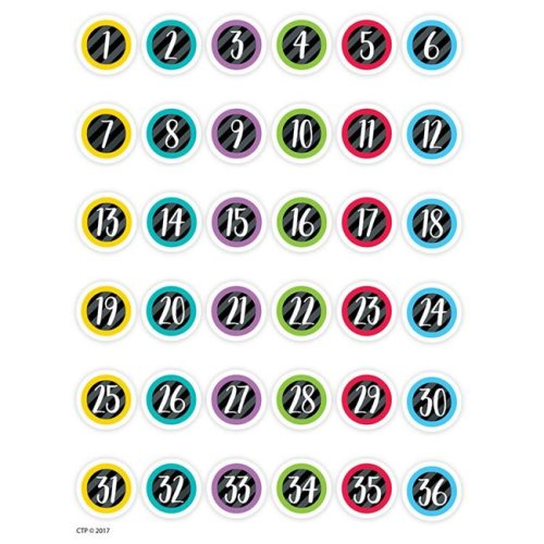 Creative Teaching Press CTP2171-6 Student Numbers Stickers - Pack of 6