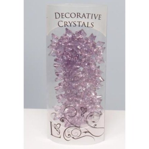 Decorative Acrylic Snow Flakes Crystals - 4.5cm, Plum