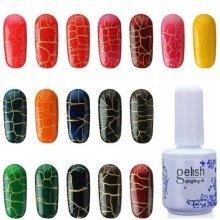 20 Colors DIY Phototherapy Crack Glue Nail Art Soak Off UV Gel Polish