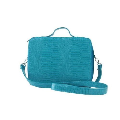Picnic Gift 7122-BT Cosmopolitan-Insulated Adjustable Make Up Travel Organizer, Blue Turquoise
