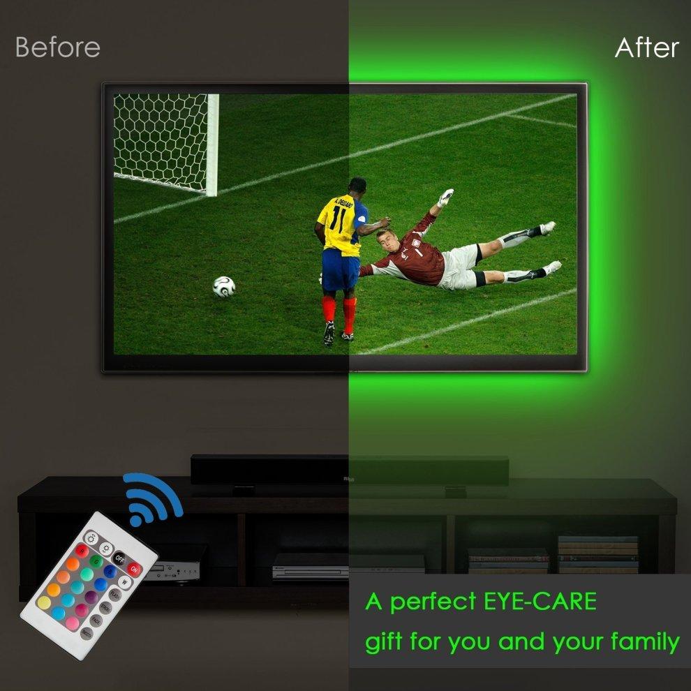 4pcs Led Strip Lightled Tv Background Lighting Kit Multi Colour