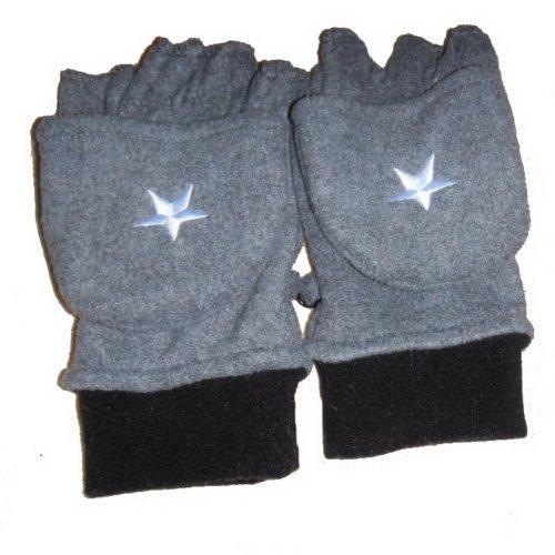 Star Men's Fleece Winter Glove Half-finger gloves convertible gloves Work Gloves
