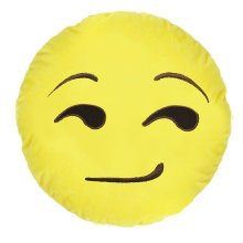 Emoji Emoticon Yellow Round Cushion Stuffed Pillow Plush Soft Toys Décor