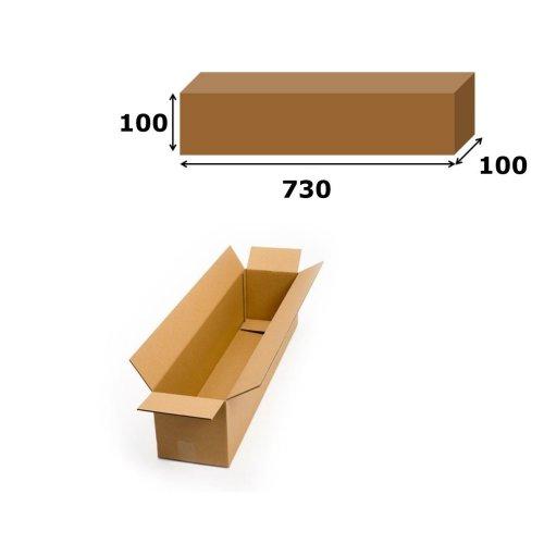 1x Postal Cardboard Box Long Mailing Shipping Carton 730x100x100mm Brown