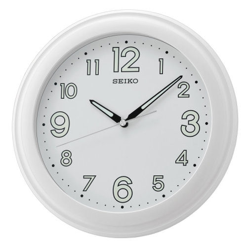 Seiko LumiBrite Wall Clock With Large Number│Plastic Case Mater.│White