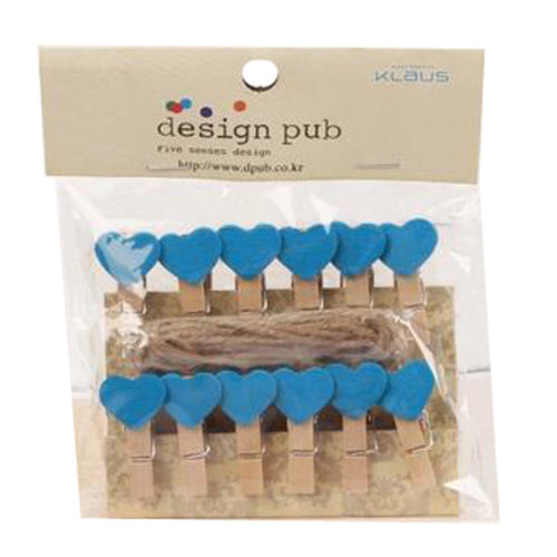 Mini Natural Wooden Clothespins Photo Paper Peg Pin Craft Clips with 2m Jute Twine, Q