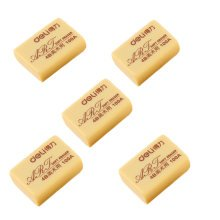 Soft Eraser,Rubber Eraser, Great For Painting, Set Of 10, Light Yellow