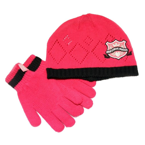 Childrens/Kids Girls High School Musical Hat And Gloves Set (Pink)