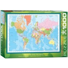 Eg60001271 - Eurographics Puzzle 1000 Pc - Map of the World