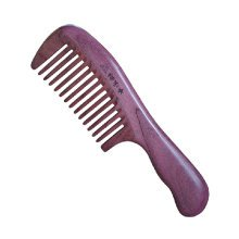 Ultra Smooth Hair Comb Wooden Comb Combs Hair Accessary with Case, Purple