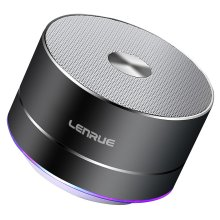 Bluetooth Speaker, Lenrue Portable Wireless Mini Outdoor Rechargeable Speakers with LED, Stereo Sound, Enhanced Bass, Built-in Mic for IPhone/IPad...