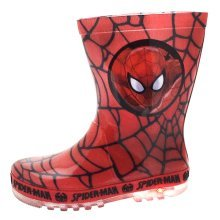 SPIDERMAN Wellies with Flashing Light Up Soles