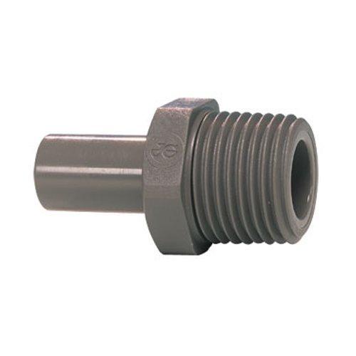 John Guest Stem Adaptor 1/4 inch Stem x 1/4 BSPT Thread (one supplied)