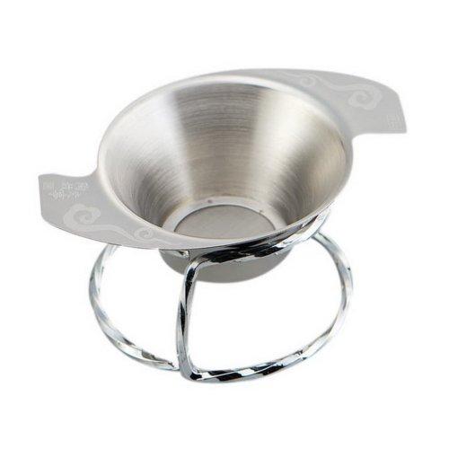 Stainless Steel Kung Fu Tea Accessories, Comma Tea Filter + Sliver Tea Leak  Base