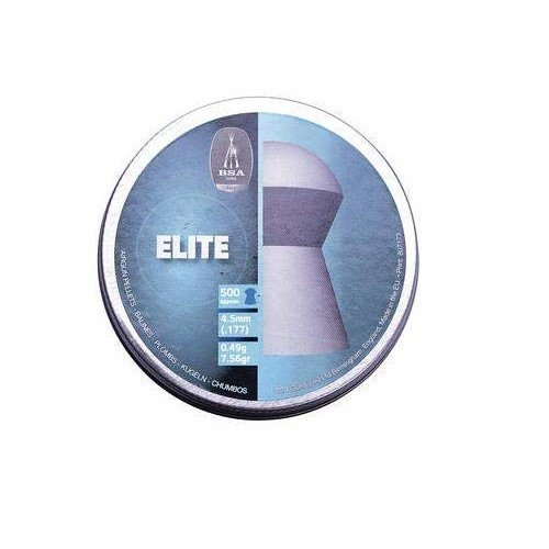 BSA - Can of 500 Elite domed pellets - 177/4.5mm