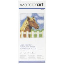 "Caron Wonderart Latch Hook Kit 12""X12""-Pony"