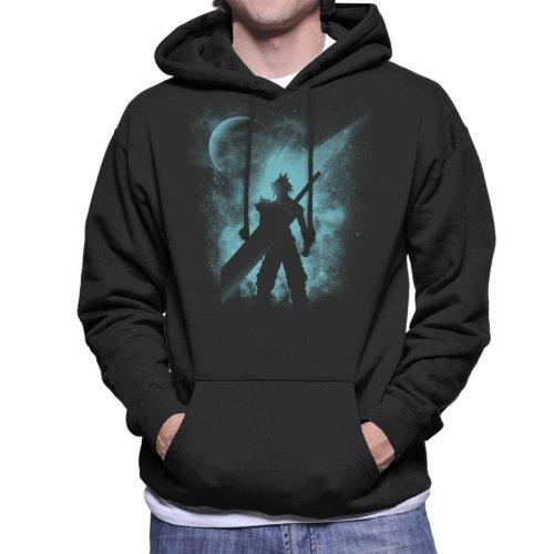 Ex Soldier Sihouette Cloud Strife Final Fantasy VII Men's Hooded Sweatshirt