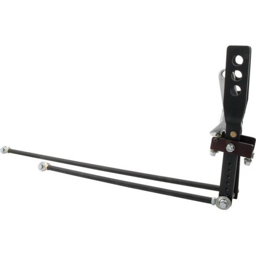 Allstar Performance ALL54125 2 Lever Shifter with Lock, Black Anodized