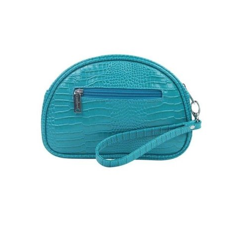 Pina Colada-Clutch Insulated Cosmetics Bags with Removable Wristlet, Blue Turquoise
