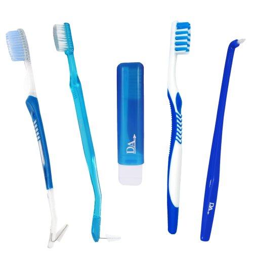 Orthodontic Toothbrush Starter Pack ~ 5 Brushes for Braces VTrim, Interspace & Travel