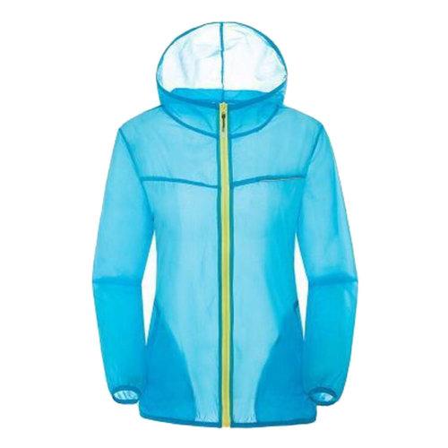 Thin Sun Protective Clothing Women's Clothing Long Sleeve Shirts Raincoat Blue
