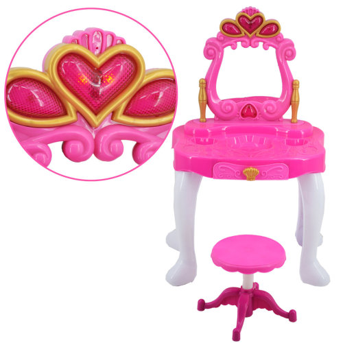 deAO Princess Dressing Vanity Table with Mirror and Stool | Dressing Table