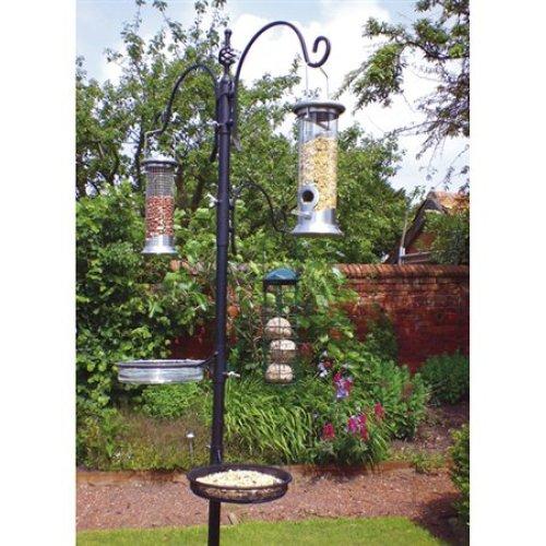 Traditional Bird Feeding Station - Garden Wild Metal Hanging Feeder Kingfisher -  bird feeding station garden wild metal traditional hanging feeder