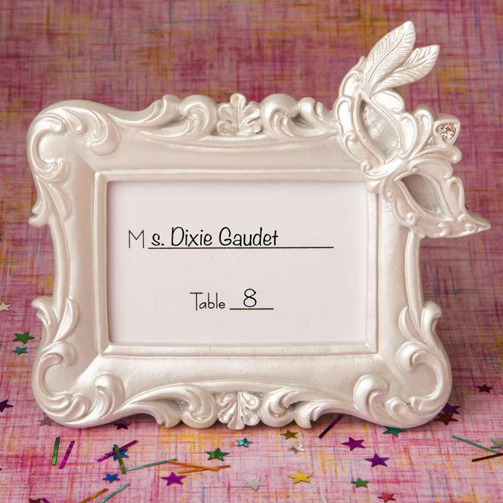dc2c0430deb ... Mardi Gras Masked theme picture   placecard frame from solefavors - 1.