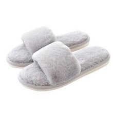 Fashion Ladies Winter Warm & Cozy  Indoor Shoes Skidproof House Slipper, Gray