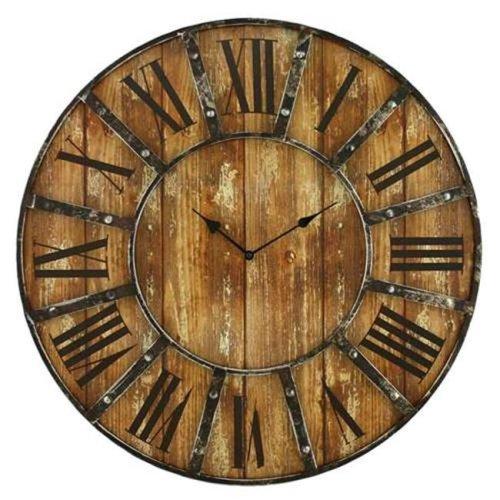 Aspire 6471 Edmonson Wall Clock, Brown