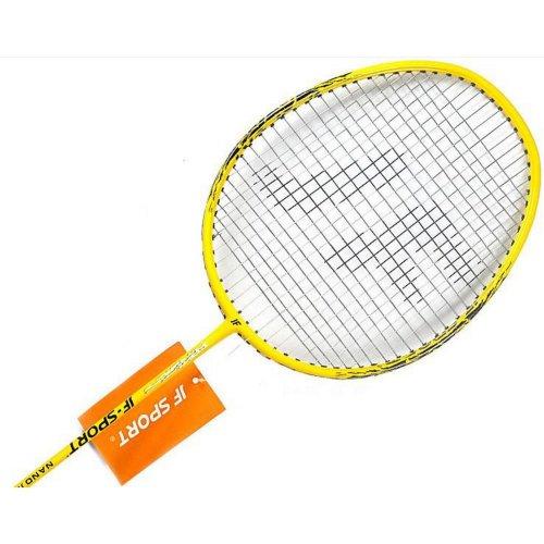 Pro Badminton Racquet Restrung Carbon Fiber Racket, 3 Shuttlecocks, a Bag