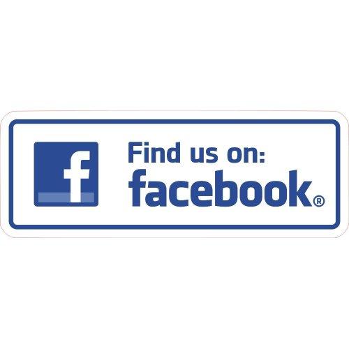 Find Us On Facebook Shop Business Trade Trader Till Payment Sticker Laminated.