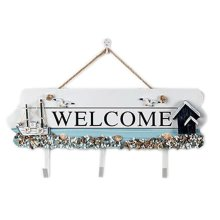 Wooden Hanging Hook Clothes/Keys/Hats Hook Home Decoration Personalized Wall Shelf Row Hook #11