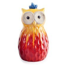 Red Tropic Sunshine Terracotta Owl Garden Ornament