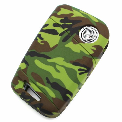 Finest-Folia Key Cover VD for 3 Buttons Car Key Silicone Cover