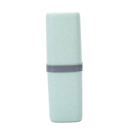 Portable Travel Toothbrush Toothpaste Holder Case Useful Travel Mug, Green