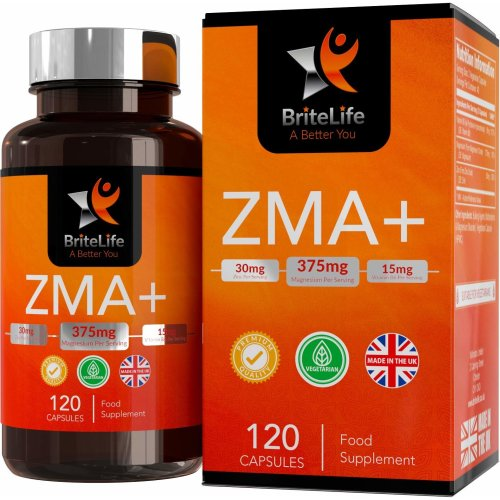 ZMA+ 420mg - Zinc, Magnesium & Vitamin B6 Supplement Blend | 120 Vegetarian Capsules, 1 Month Supply | for Immune, Hormone, Athletic Support -...