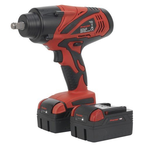 """Sealey CP3005 Cordless Lithium-ion Impact Wrench 18V 3Ah 1/2""""Square Drive 650Nm - 2 Batteries"""