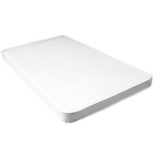 L A BABY 3505-V L. A.Baby 2-Inch Compact Crib Mattress- White