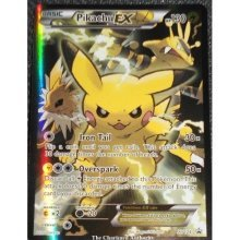Pikachu EX Black Star Promo XY124 Red and Blue Collection