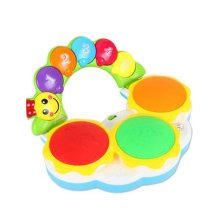 Musical Electric Baby Toys Hand Drum Instrument Percussion Set for Children, Playing Hamster@Yellow