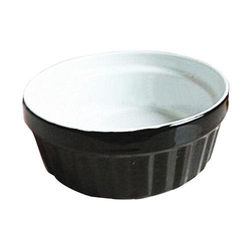 Porcelain Pets Puppy Food Water Bowls Dogs Bowls Cats Pet Supplies - Black