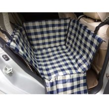 Waterproof Oxford Fabric Pet Car Seat Cover Dog Mat for Rear Single Seat, Grid
