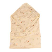 Lovely Cartoon Series Soft Baby Hooded Bath Towel, Yellow (100*100CM)
